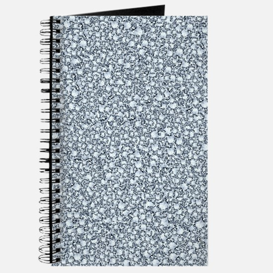 Encrusted Diamonds Look Glitter Pattern Journal