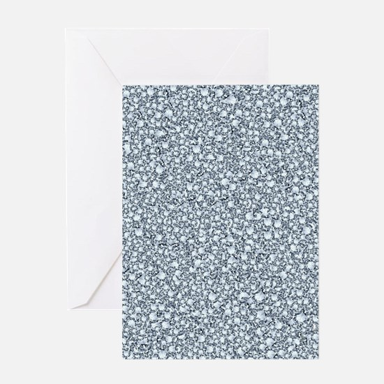 Encrusted Diamonds Look Glitter Pat Greeting Cards