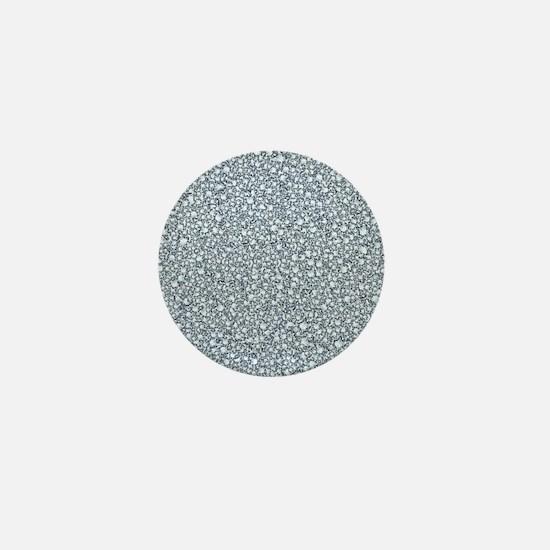Encrusted Diamonds Look Glitter Patter Mini Button