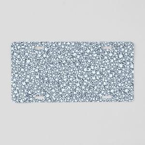 Encrusted Diamonds Look Gli Aluminum License Plate