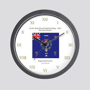 """Black Watch"" Wall Clock"