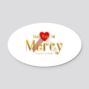 Holy Year of Mercy Oval Car Magnet