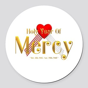 Holy Year of Mercy Round Car Magnet