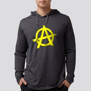 Anarchy Symbol Yellow Long Sleeve T-Shirt