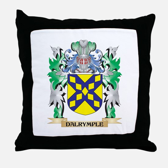 Dalrymple Coat of Arms (Family Crest) Throw Pillow