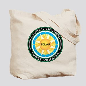 Living Green West Virginia Solar Energy Tote Bag