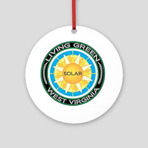 Living Green West Virginia Solar Energy Ornament (
