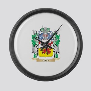 Daly Coat of Arms (Family Crest) Large Wall Clock