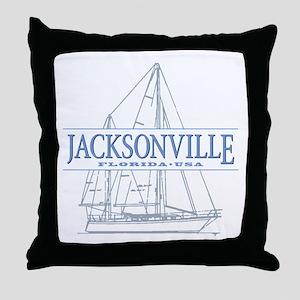 Jacksonville Florida Throw Pillow