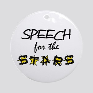 Speechforthestars Round Ornament