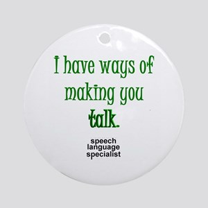 Talkshirtsls Round Ornament