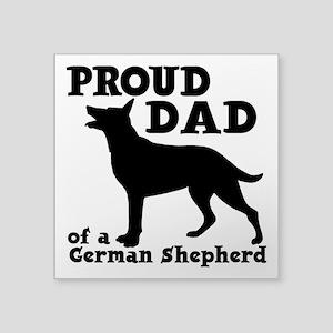 "GERMAN SHEPHERD DAD Square Sticker 3"" x 3"""