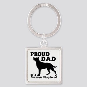 GERMAN SHEPHERD DAD Square Keychain