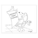 Dog Cartoon 9264 Small Poster