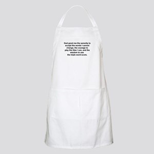 Scrabble Serenity Prayer BBQ Apron