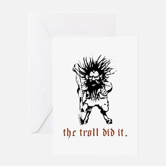 Troll Greeting Card