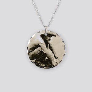 Old Miner Necklace Circle Charm