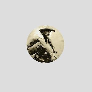 Old Miner Mini Button