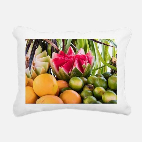 Cool Melon Rectangular Canvas Pillow