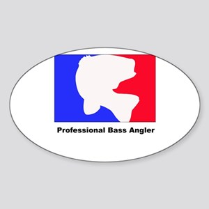 Professional bass angler Oval Sticker