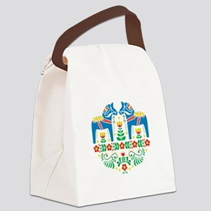 Swedish Dala Horse Canvas Lunch Bag