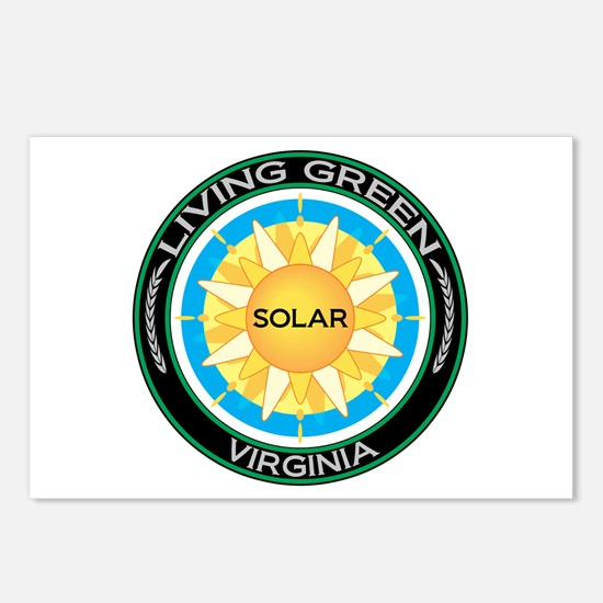 Living Green Virginia Solar Energy Postcards (Pack