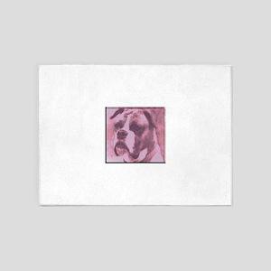 Sad Puppy 5'x7'Area Rug