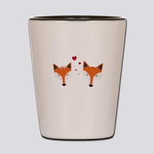 Fox in love Shot Glass