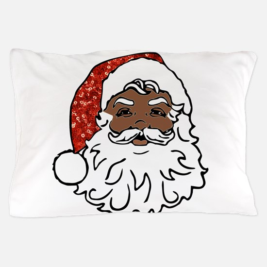 black santa claus Pillow Case