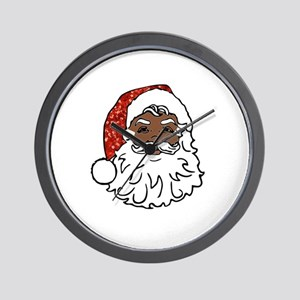 black santa claus Wall Clock