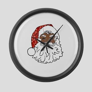 black santa claus Large Wall Clock