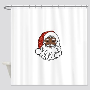black santa claus Shower Curtain