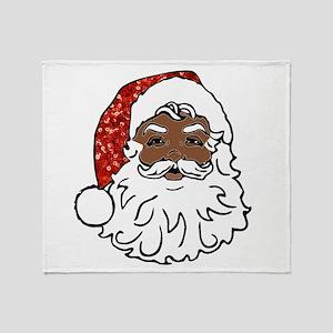 black santa claus Throw Blanket