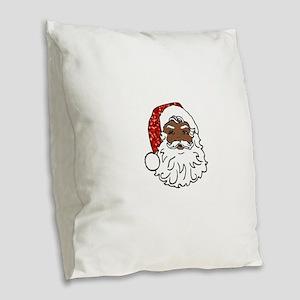 black santa claus Burlap Throw Pillow