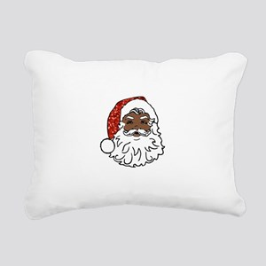 black santa claus Rectangular Canvas Pillow