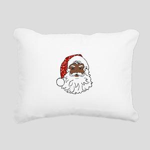 black santa claus Rectangular Canvas Pillow