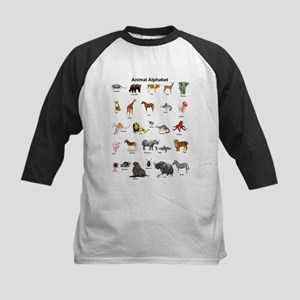 Animal pictures alphabet Kids Baseball Jersey