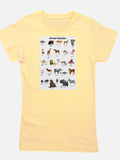 Animal pictures alphabet Girl's Tee
