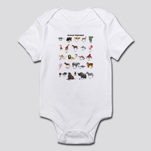 Animal pictures alphabet Infant Bodysuit