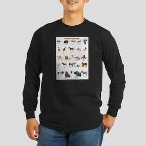 Animal pictures alphabet Long Sleeve Dark T-Shirt