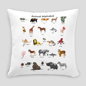Animal pictures alphabet Everyday Pillow