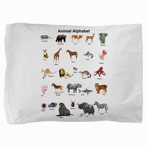 Animal pictures alphabet Pillow Sham