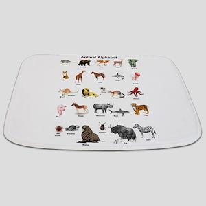 Animal pictures alphabet Bathmat