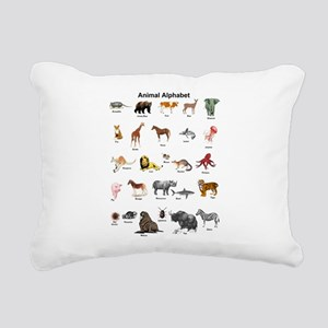 Animal pictures alphabet Rectangular Canvas Pillow