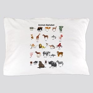 Animal pictures alphabet Pillow Case