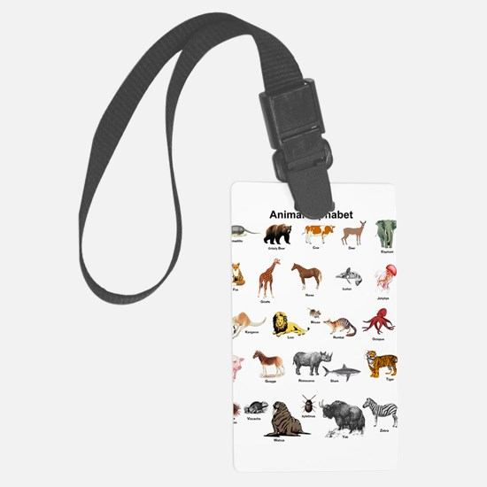 Animal pictures alphabet Luggage Tag