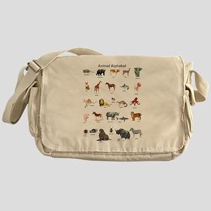 Animal pictures alphabet Messenger Bag