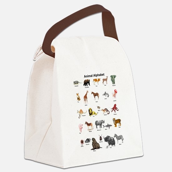 Animal pictures alphabet Canvas Lunch Bag