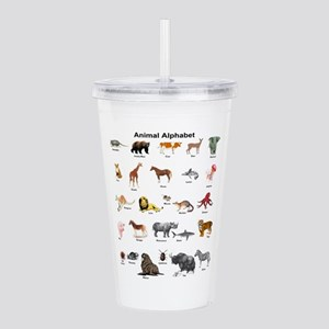 Animal pictures alphab Acrylic Double-wall Tumbler