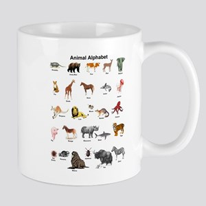 Animal pictures alphabet Mug